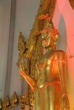 Buddha dourado dentro do templo Foto de Stock