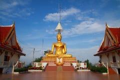 Buddha dourado grande Fotos de Stock Royalty Free
