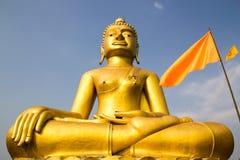 Buddha dourado grande Fotografia de Stock Royalty Free