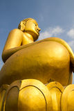 Buddha dourado grande Imagens de Stock Royalty Free