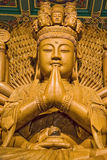 buddha drewniany Zdjęcia Royalty Free
