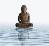 buddha drewniany wodny Obrazy Royalty Free