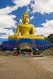 Buddha duży Złota statua Zdjęcie Stock