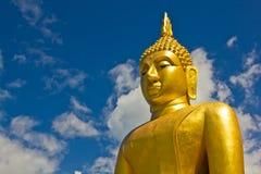 Buddha duży Złota statua Obraz Royalty Free