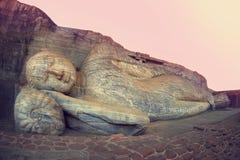 Buddha durmiente Polonnaruwa, Sri Lanka Imagen de archivo libre de regalías
