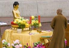 Buddha e budista Imagem de Stock