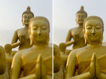 Buddha e discípulo Foto de Stock Royalty Free
