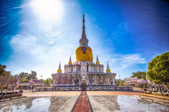 Buddha of the East. Phra District is located in Dun Dun Dun District, Maha Sarakham. Bethel built for the prosperity of the region. A center of Buddhism and Stock Photos