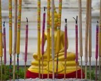 Buddha ed incenso Fotografia Stock