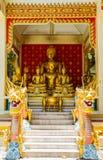 Buddha en el templo de Tailandia Foto de archivo
