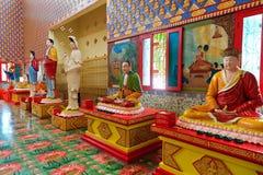 Buddha en el templo tailandés Wat Chayamangkalaram Fotografía de archivo libre de regalías