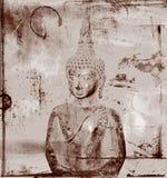 Buddha en fondo sucio Stock de ilustración