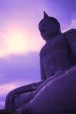 Buddha en la puesta del sol Imágenes de archivo libres de regalías