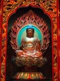 Buddha en templo chino fotografía de archivo