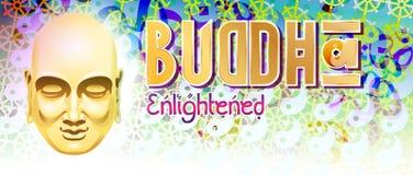 Buddha Enlightened Banner Stock Photo