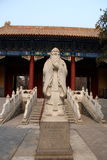 Buddha at the entrance. Beijing temple buddha welcoming everyone in Royalty Free Stock Photography