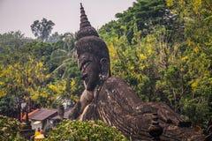 Buddha entsteinen Statue, Buddha-Park, Vientiane, Laos lizenzfreie stockfotografie