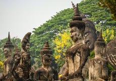 Buddha entsteinen Statuen, Buddha-Park, Vientiane, Laos lizenzfreie stockfotografie