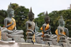 Buddha erscheint im Seema Malaka-Tempel von Colombo in Sri Lanka stockfoto