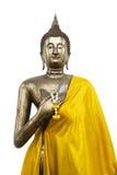 Buddha estando no fundo branco Imagem de Stock