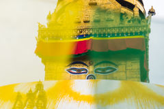 Buddha Eye at Swayambhunath,Nepal Stock Images