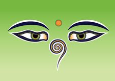 Buddha eyes Stock Images