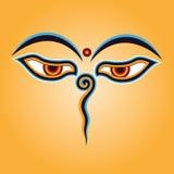 Buddha eyes. Vector illustration colour Royalty Free Stock Photos