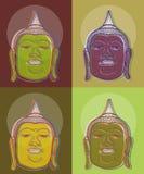 buddha för 4 konst pop Arkivbilder