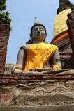 Buddha för forntida tempel och statyav Ayutthaya Thailand Arkivbilder