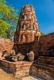 Buddha fördärvar i Ayutthaya Arkivfoto