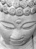 Buddha Face. Stone Buddha :: detail Royalty Free Stock Images