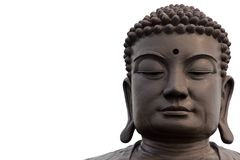 Buddha face. On white background Stock Photo