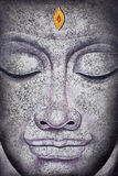 Buddha face acrylic painting. Buddha face, acrylic painting on canvas Royalty Free Stock Image