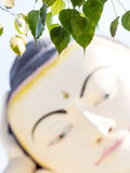 Buddha Face art of Myanmar. Stock Photo