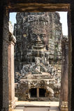 Buddha face of Bayon temple Stock Photo