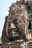 Buddha face of Bayon temple Royalty Free Stock Photo
