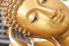 Buddha face and Buddha head. In Asia Thailand Royalty Free Stock Photos