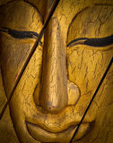 Buddha face carving Stock Image