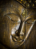 Buddha face carving Royalty Free Stock Images