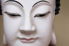 Buddha face close up. Royalty Free Stock Photos