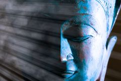 Free Buddha Face Close-up. Spiritual Enlightenment. Zen Buddhism. Traditional Thai Statue Stock Images - 155565514