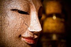 Buddha face cracks Stock Photo