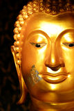 Buddha face gold color. Stock Photography