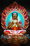 Buddha04. Face of Buddha and hand of god 04 royalty free stock photography