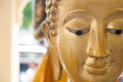 Buddha face. And Buddha head in Asia Thailand Royalty Free Stock Photography
