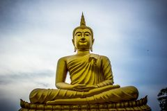 Buddha Face In Ubon Ratchathani, Thailand. Stock Photography
