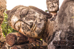 Buddha Face in Kampangpetch Stock Images