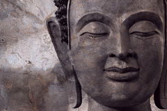 Buddha face makes of wax Royalty Free Stock Photography