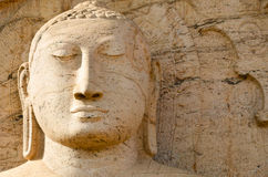 Free Buddha Face On Yellow Stone Stock Photos - 29461253