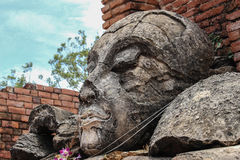 Buddha face. Phra Nakhon Si Ayutthayan, Thailand,n Royalty Free Stock Photo